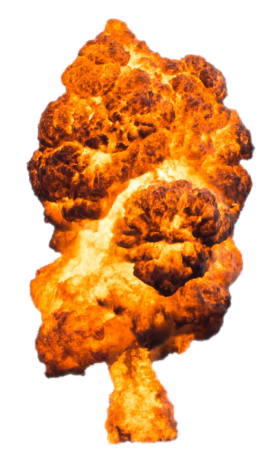 Big Large Fire Explosion PNG