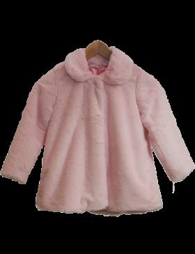 Faux Fur Coat Short Pink PNG