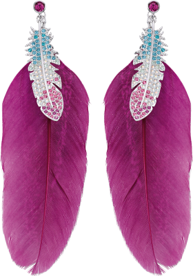 Feather Earrings PNG