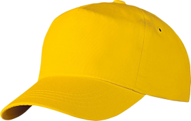 Featuddrced Face  Cotton  Yellow Cap PNG