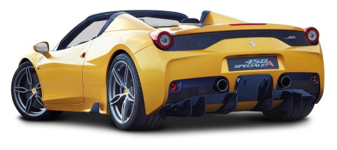 Ferrari 458 Speciale Aperta Yellow Car PNG