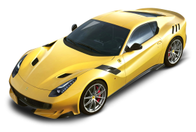 Ferrari F12tdf Yellow Car PNG