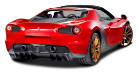 Ferrari Sergio Back View PNG