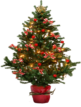 Christmas Tree with Bows PNG