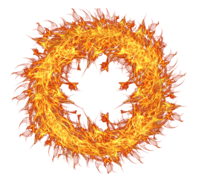 Flaming Fire Circle PNG