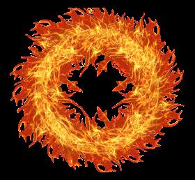 Flaming Fire Circle PNG