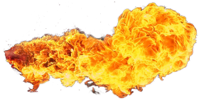 Fire Flame from the Side PNG
