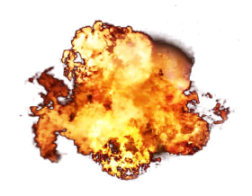 Big Fire Flame Explosion PNG