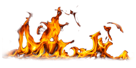 Flame Burning Ground PNG