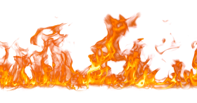 Fire Flame on Ground PNG