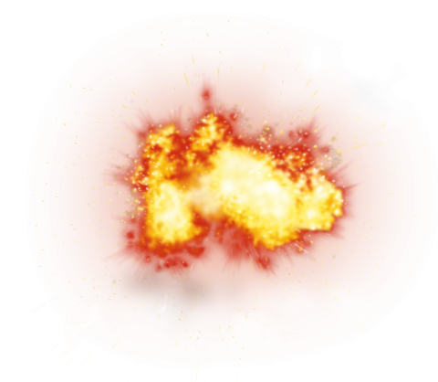 Big Giant Fire Explosion  PNG