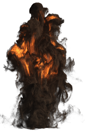Giant Fire Smoke Explosion PNG