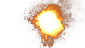 Sparkling Fire Explosion PNG