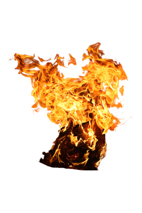 Flaming Paper PNG