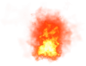 Burning Fire with Flames PNG