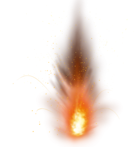 Sparkle Fire Flame Ground Explosion PNG