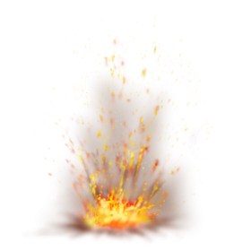 Fire Flame Sparkling Ground Explosion PNG