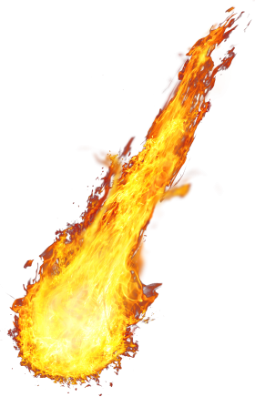 Fireball Comming Down PNG