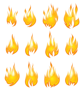 Fire Flame Collection PNG