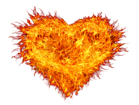 Burnings Heart on Fire PNG