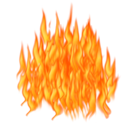 Big Bright Flame PNG