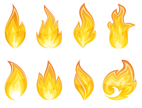 Flame Fire Collection PNG