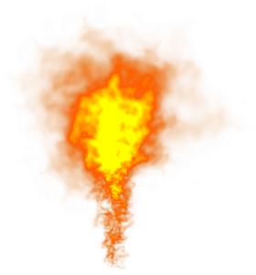 Bright Flame Fire PNG