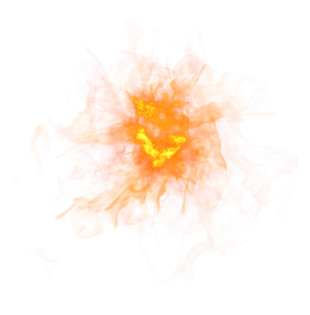 Sparkling Fire Flame PNG