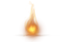 Single Little Fire Flame PNG