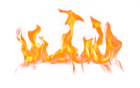 Small Fire with Flames PNG