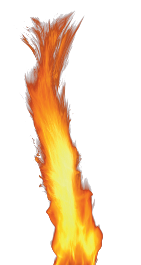 Big Single Flame PNG