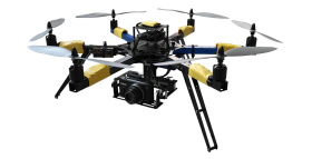 Flying Drone with Camera PNG