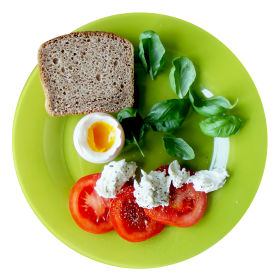 Food Plate Top View PNG