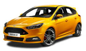 Ford Focus ST Yellow Car PNG