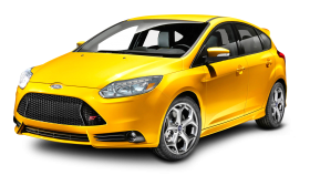 Ford Focus Yellow Car PNG