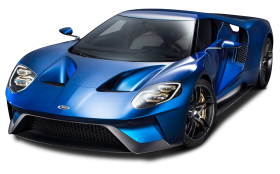 Ford GT Blue Super Car PNG