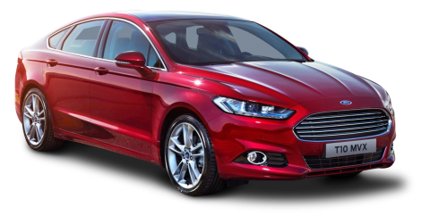 Ford Mondeo Red Car PNG