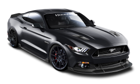 Ford Mustang Hennessey Black Car PNG