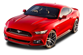 Ford Mustang Red Car PNG