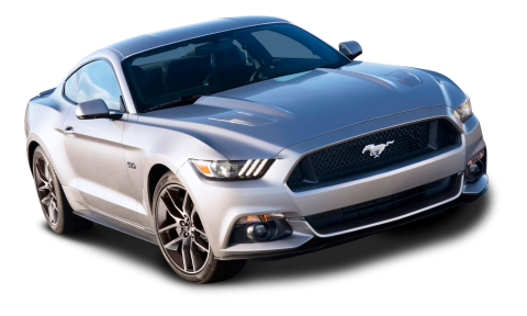 Ford Mustang Silver Car PNG