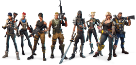 Fortnite all classes Group picture PNG