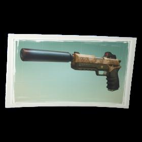 Fortnite Suppressed Pistol PNG