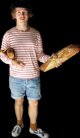 France Baguette PNG