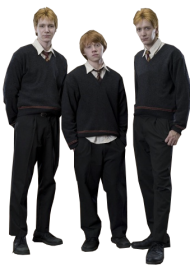 Fred Ron and George PNG