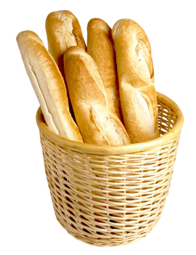 French Bread in Basket PNG