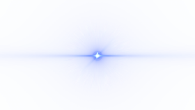 Front Blue Lens Flare PNG