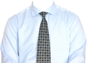 Full Length Formal Shirt  With Tie PNG