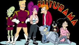 Futurama  Bender Fry Leela PNG