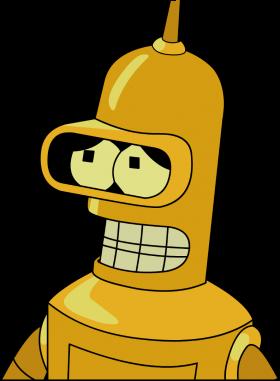 Futurama Bender Gold PNG