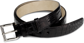 Genuine Crocodile Leather Belt PNG